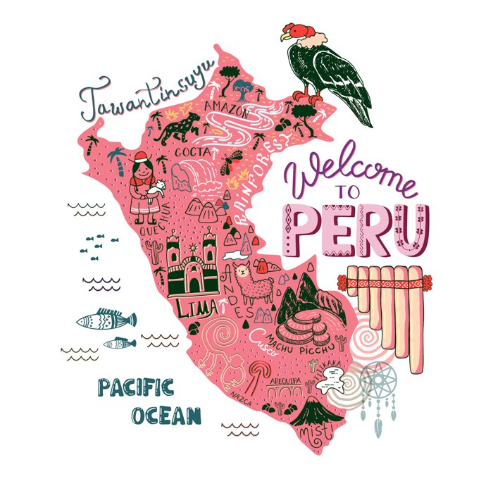 PERU best things to do in Peru - map