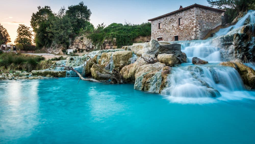 Saturnia natural thermal bath in Tuscany