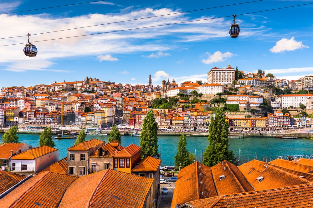 Porto, old town on the Douro River. Best places to see in Portugal