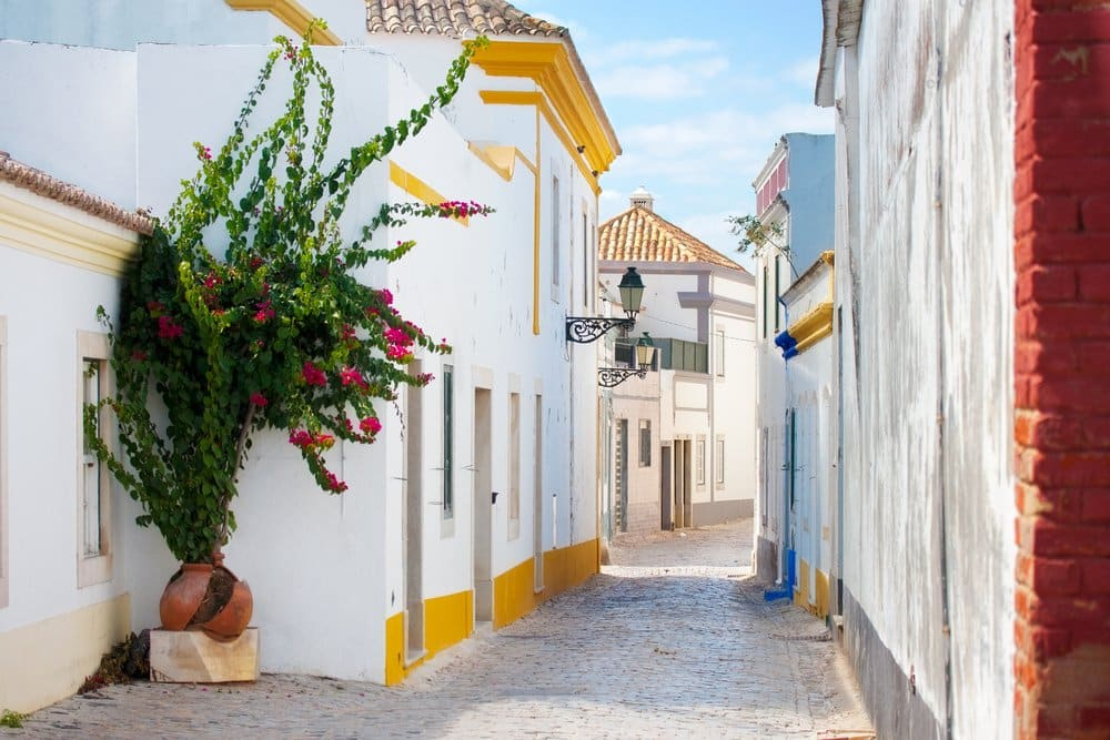 Where to go in portugal. Street in Faro, Portugal.