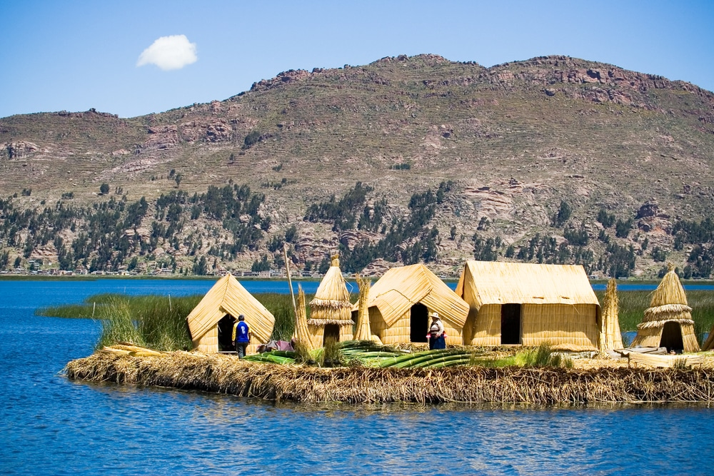 Peru points of interest - Uros Floating Islands, Lake Titicaca, Peru