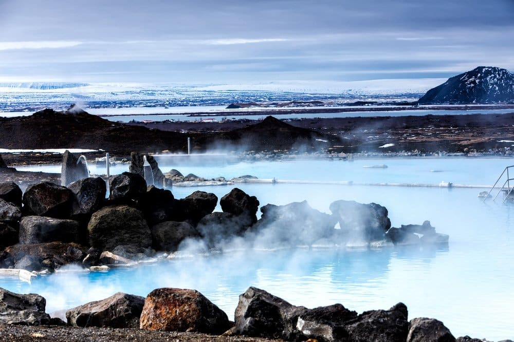 Iceland places to visit, Myvatn Naturebaths, a geothermal hot lagoon in Northeast Iceland. Places to see in Iceland