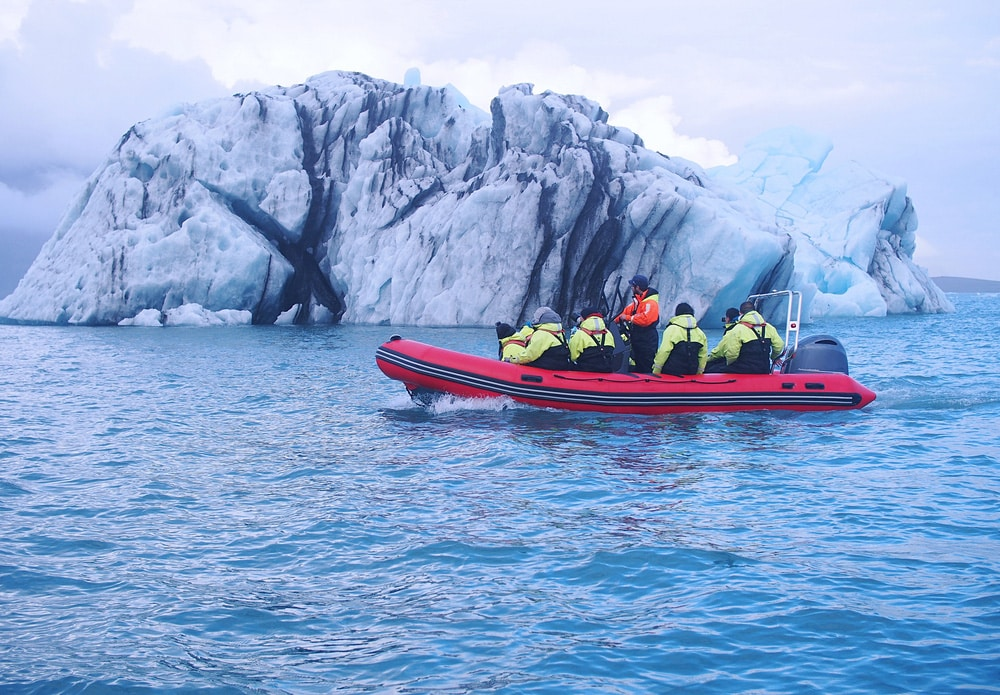 Best places to visit in Iceland - Glacier boat tour