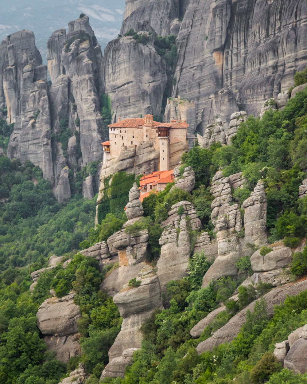 Roussanou Monastery Meteora in Greece. Pic @Wandering Whatless