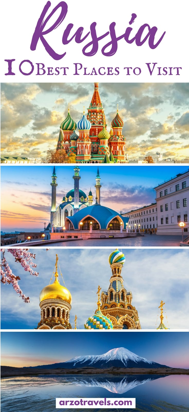Best places to see and visit in Russia. Where to go in Russia.