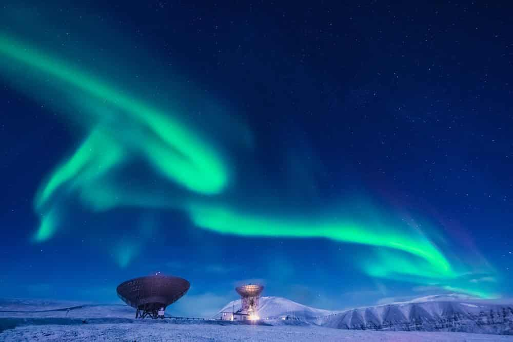 Northern lights in Norway Svalbard in Longyearbyen Where to see northern lights in Norway