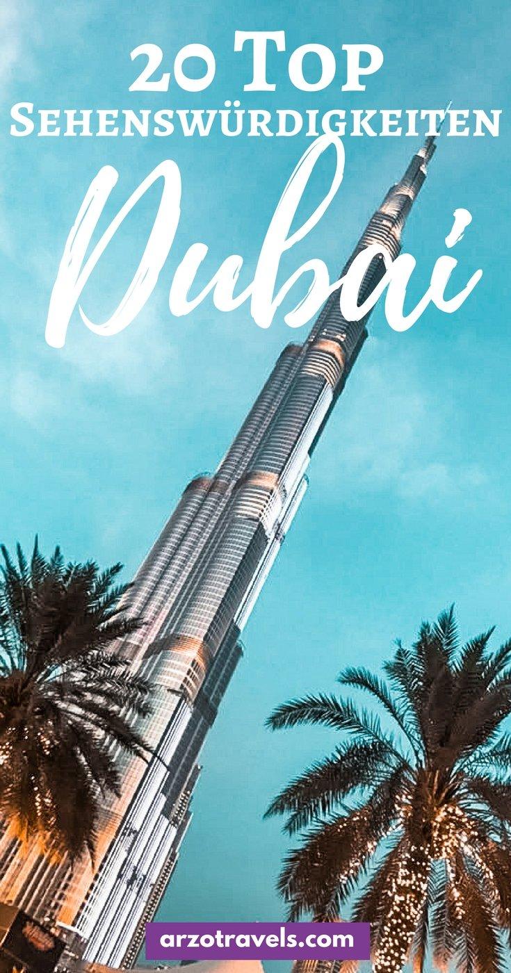 Die 20 besten Sehenswürdigkeiten in Dubai und wichtige Reisetipps für Dubai, VAE.
