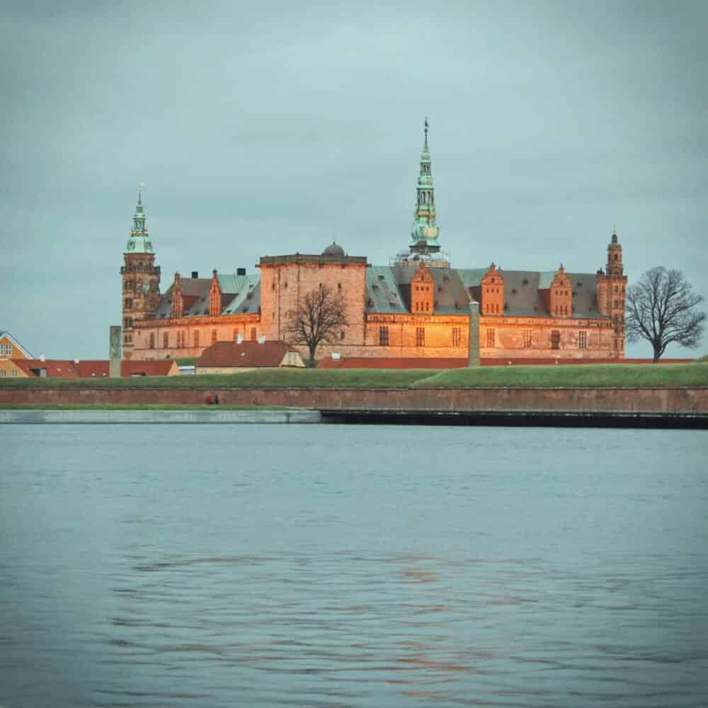 Kronberg Castle from Hamlet near Copenhagen Denmark