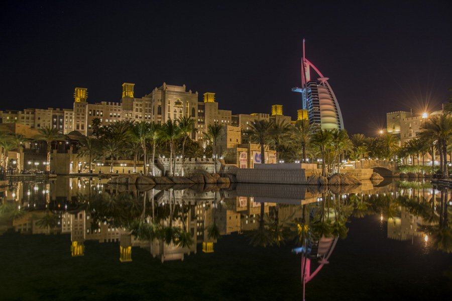 At night where to go in Dubai - Madinat Jumeirah at night