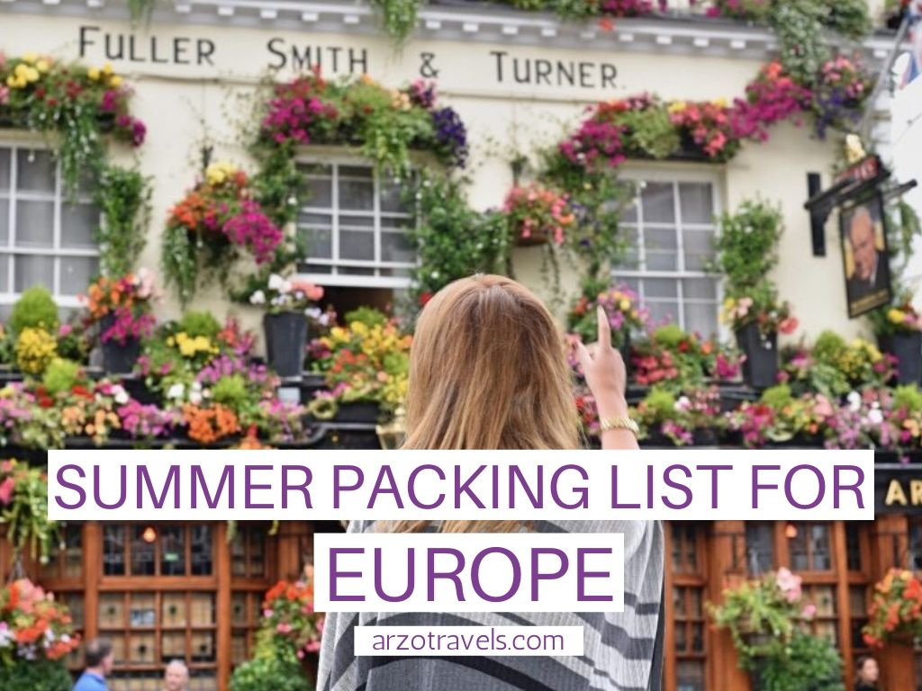What to Pack for Europe in Summer: Packing List