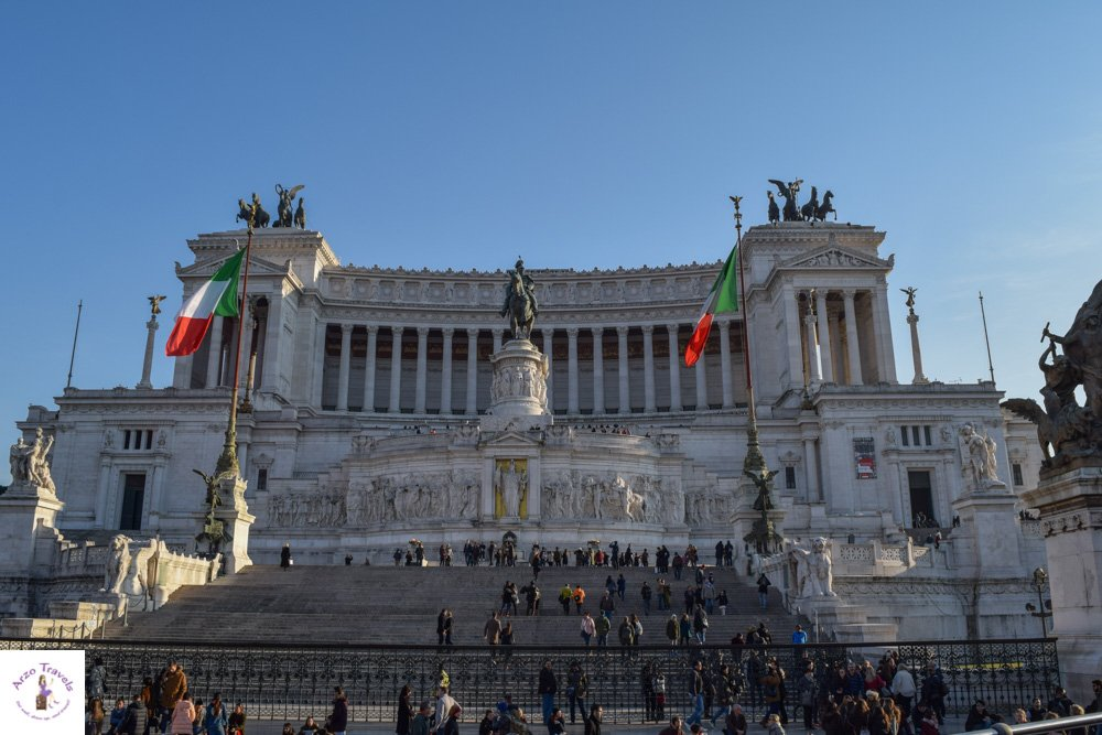 Monumento Nazionale a Vittoria Emanuele II  _ The wedding cake Rome points of interest