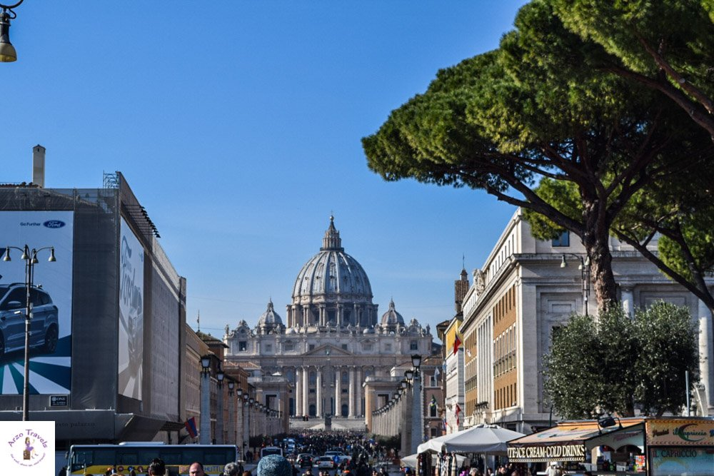 Vatican City seen from Rome