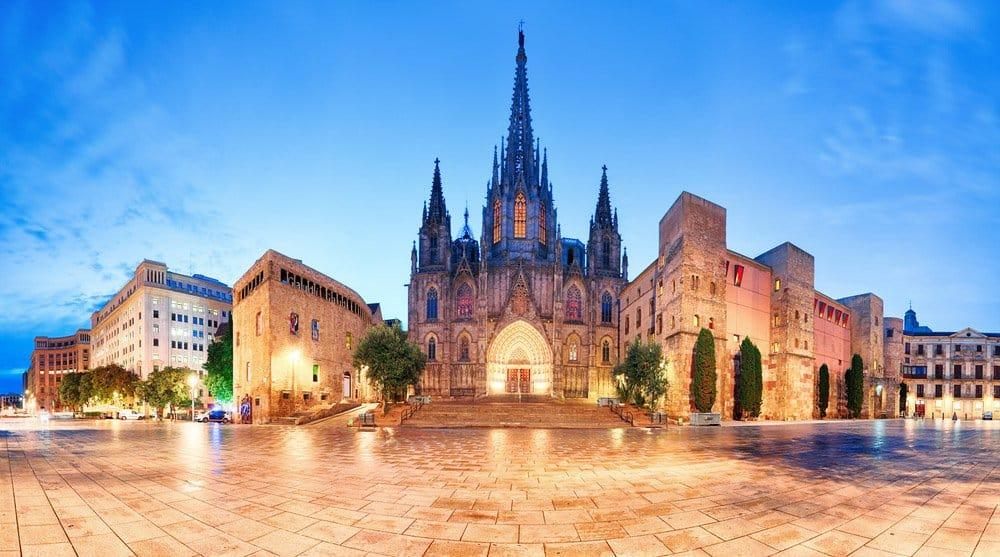 Barcelona Catherdral in Span