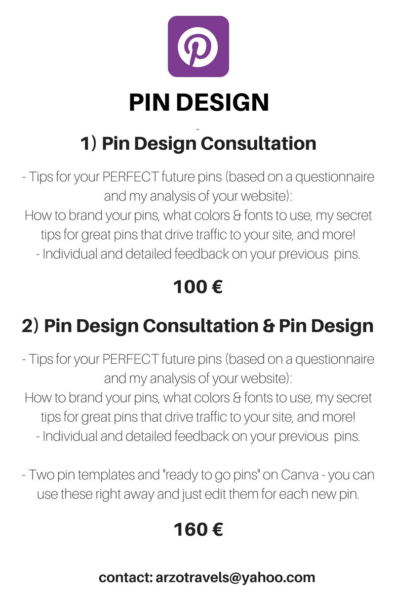 Pin consultation for Pinterest traffic and Pinterest Management by Arzo Travels