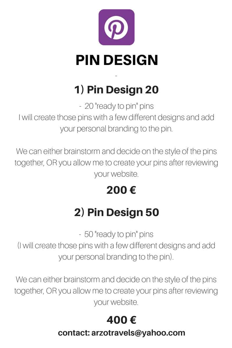 Pin design by Arzo Travels.