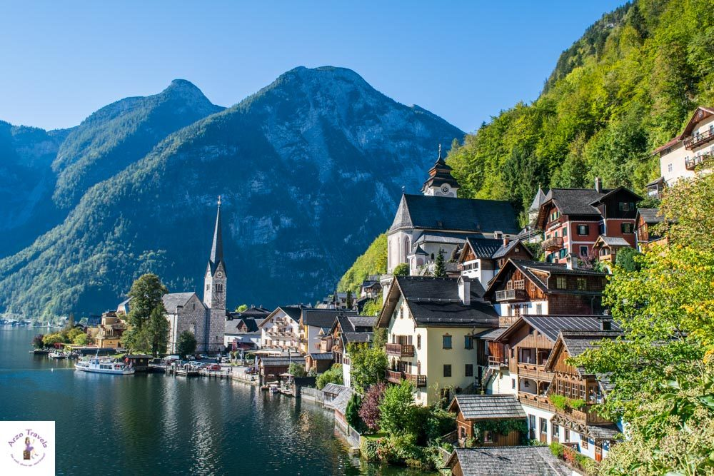 First view point of Hallstatt Austria