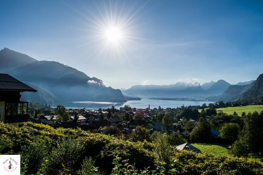 Scenic drive from Salzburg to Hallstatt