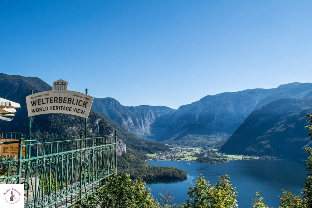 Welterbeblick from the Hallstatt skywalk