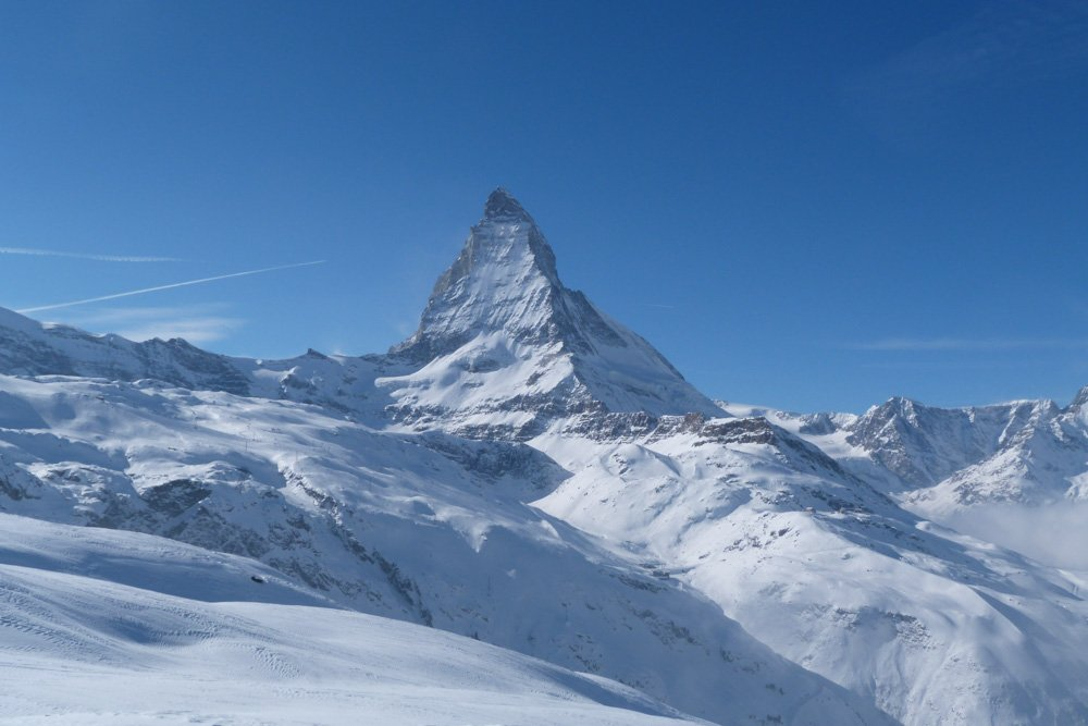 Zermatt in winter Switzerland