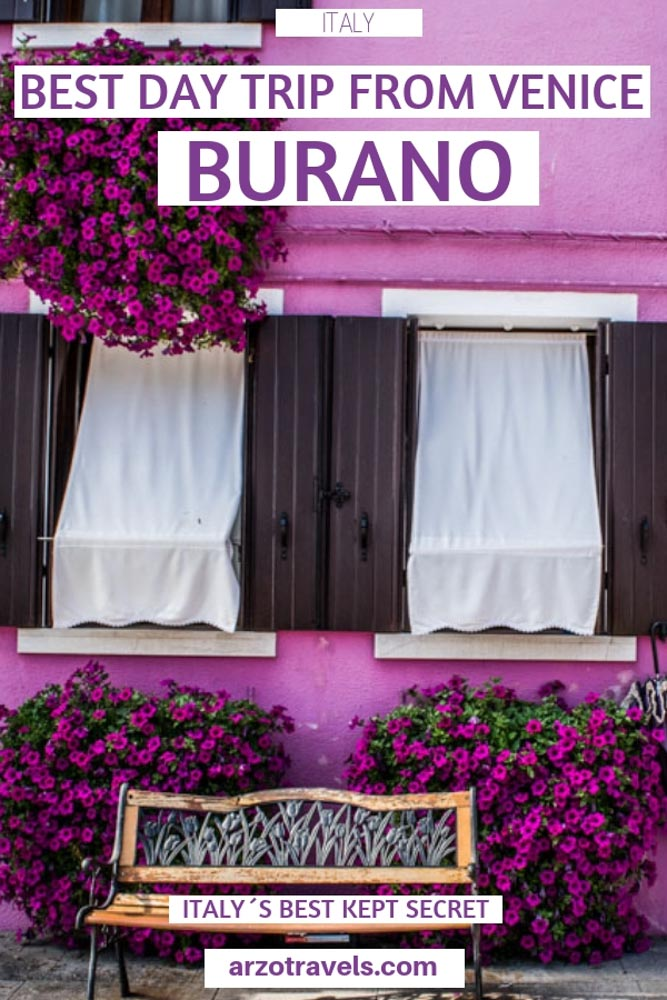 Burano is the perfect day trip from Venice - find out why to visit Burano, how to get o Burano, what to do and see, the prettiest houses and more I Burano day trip I Burano guide