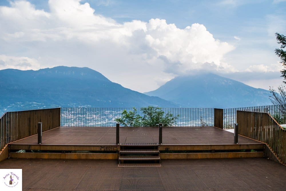 Viewing platform in Trento, Sardagna mountain