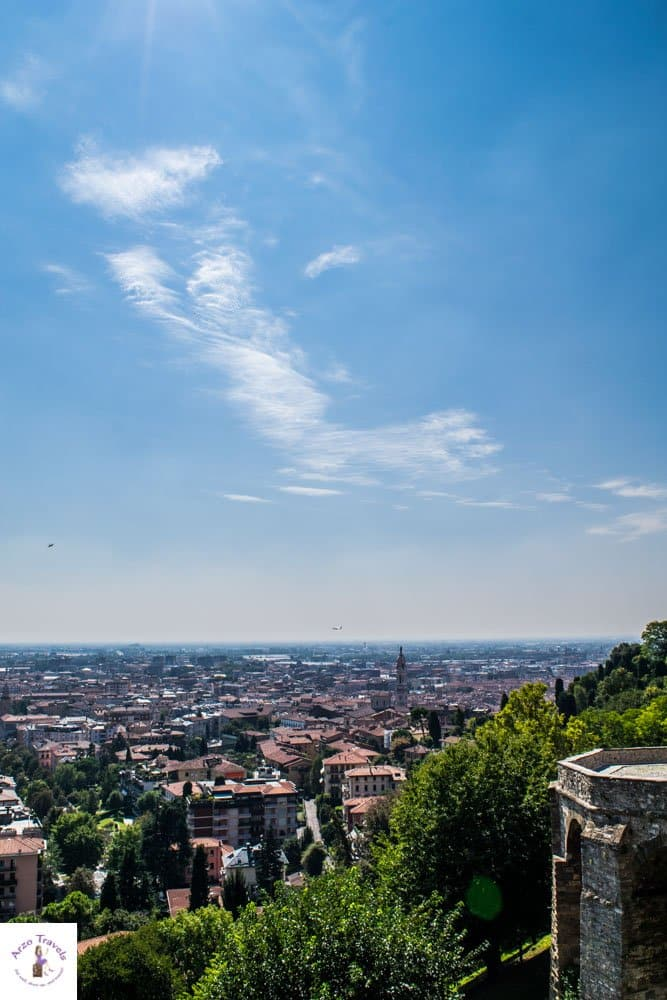 Bergamo itinerary - what to see in Lombardy, view from Venetian Walls