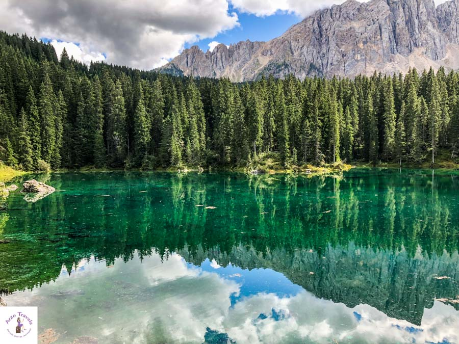 Dolomites mountain lakes, Lago di Carezzza