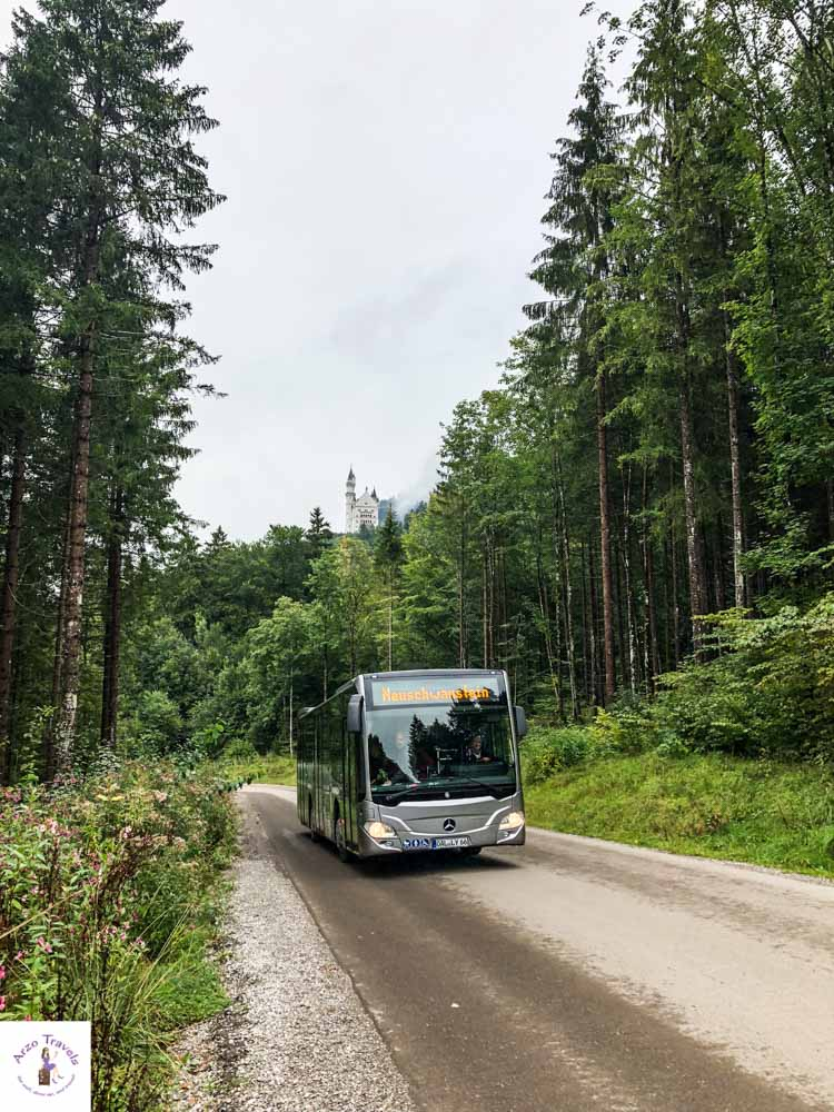 How to get to Neuschwansteiin by bus