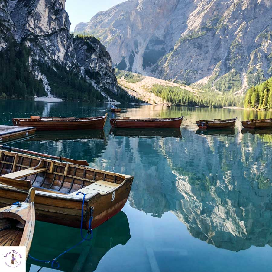 Lago di Braies, best mountain lkae in South Tyrol