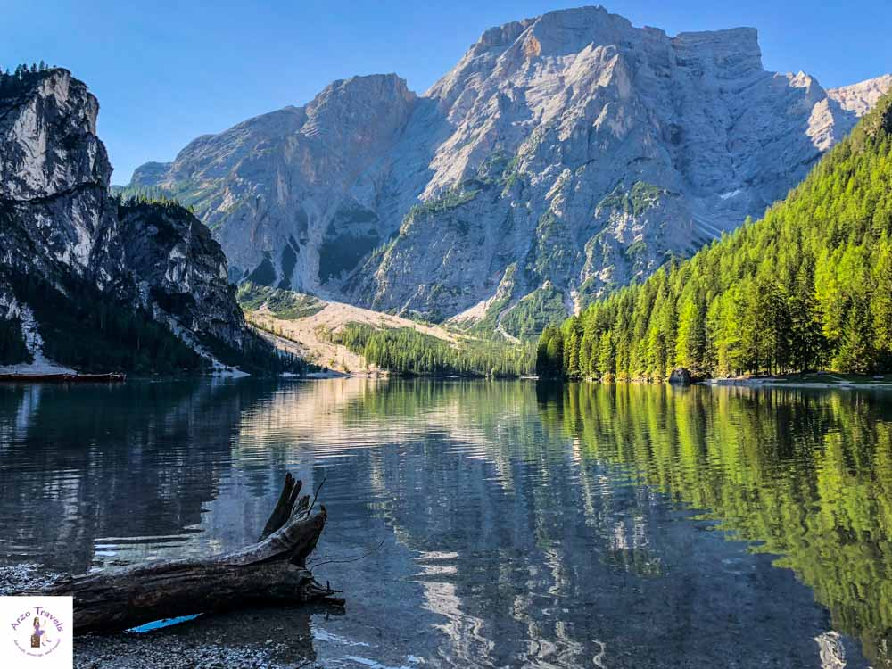 Lago di Braies in South Italy