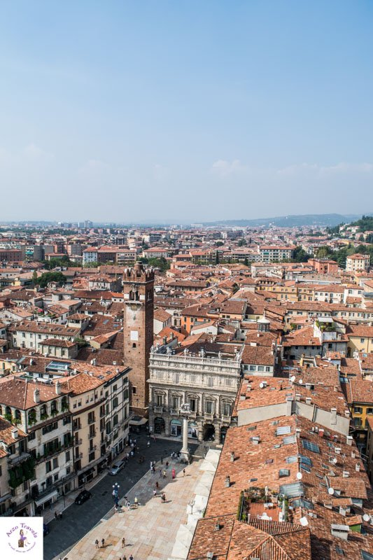 Lamberti Tower view in Verona