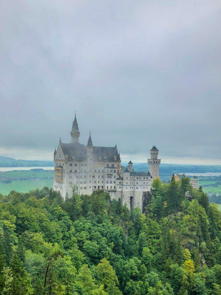 Neuschwanstein Castle - main tourist attraction in Bavaria