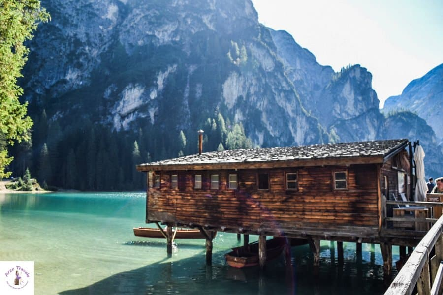 Pragser Wildsee in Italy,
