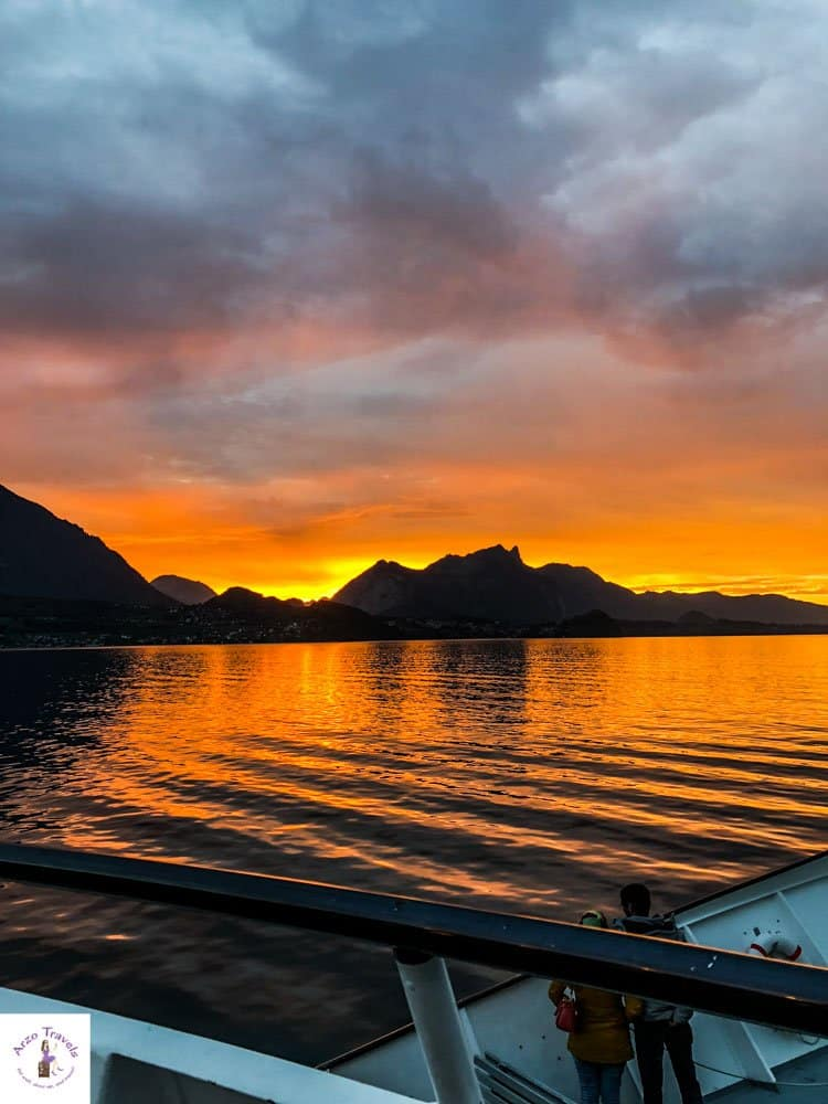 Switzerland Lake Thun best sunsets