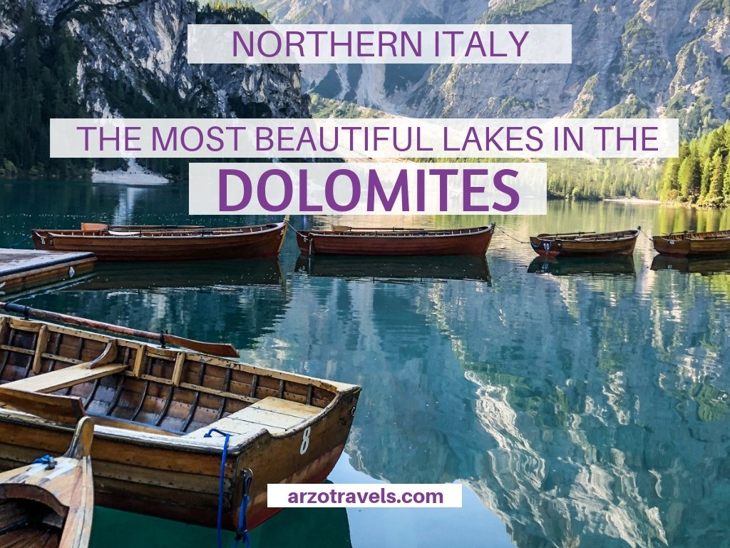 The most beautiful lakes in the Dolomites, South Tyrol, Italy