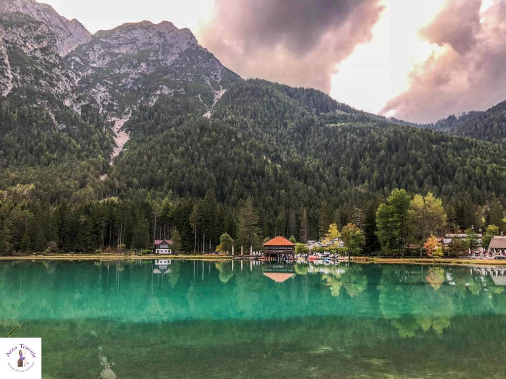 Toblacher See in the Dolomites, Italy