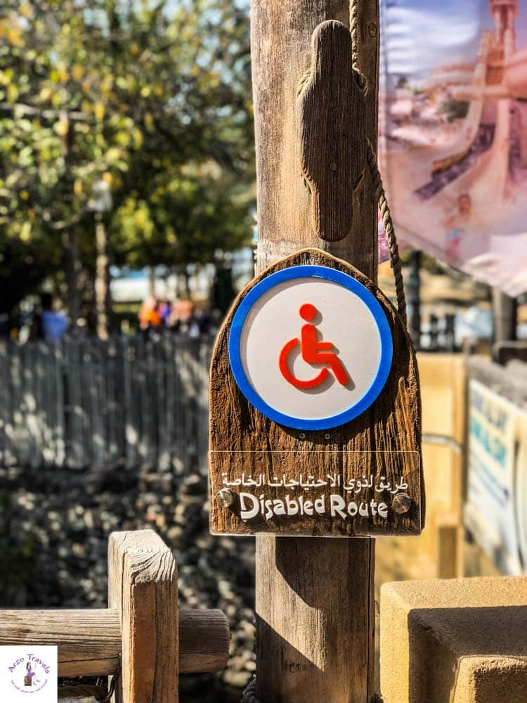 Wild Wadi Waterpark for people with disabilities
