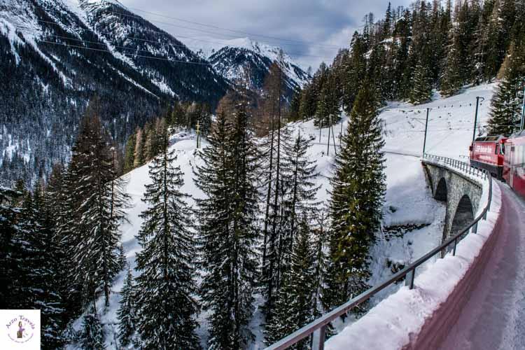 Glacier Express in Switzerland in the winter