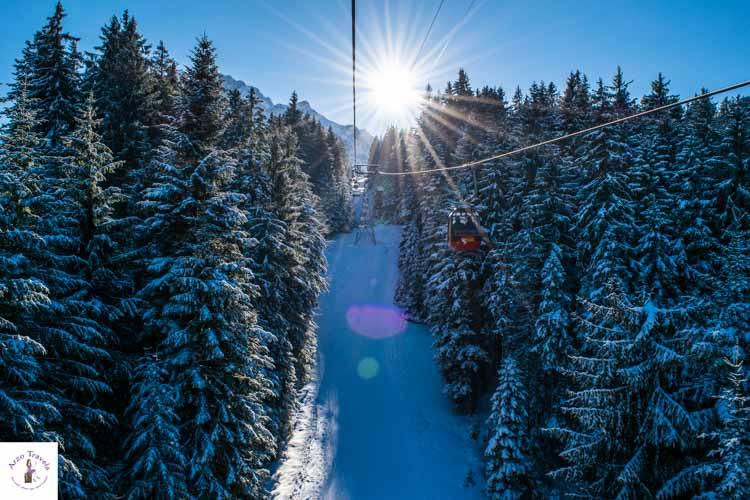 Mount Pilatus in Switzerland in the winter
