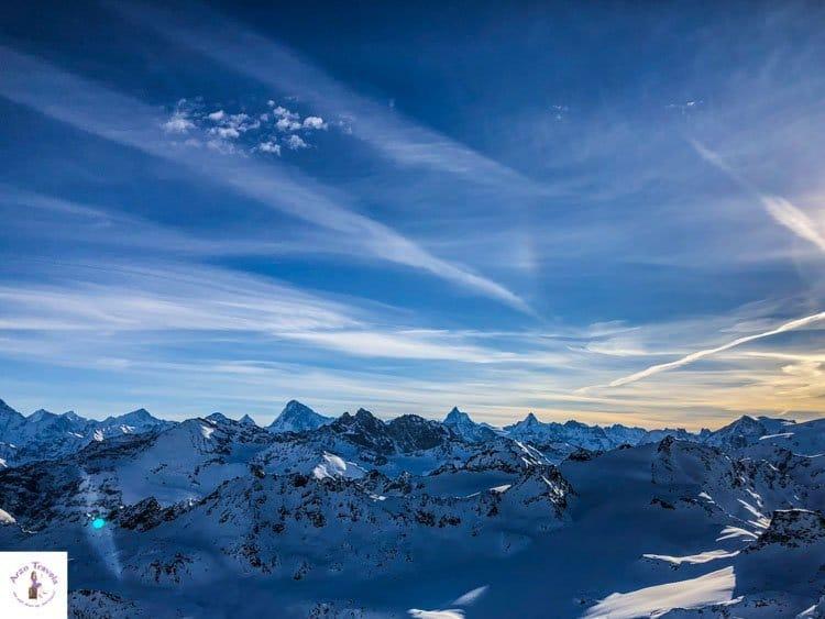 Switzerland, Mont Fort with Matterhorn view