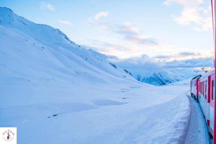 Switzerland in winter, Oberalppass
