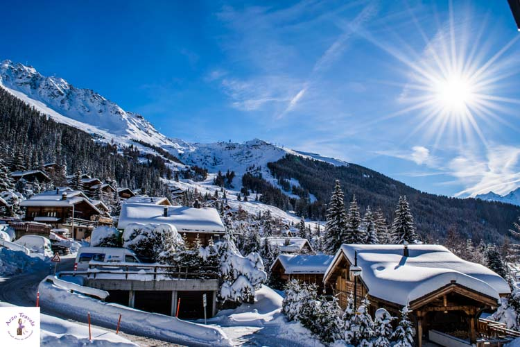 Switzerland in winter, Verbier skiing_