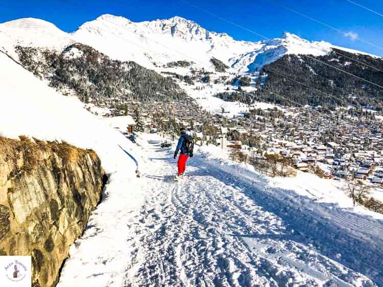 Switzerland in winter, Verbier snowsboarden_