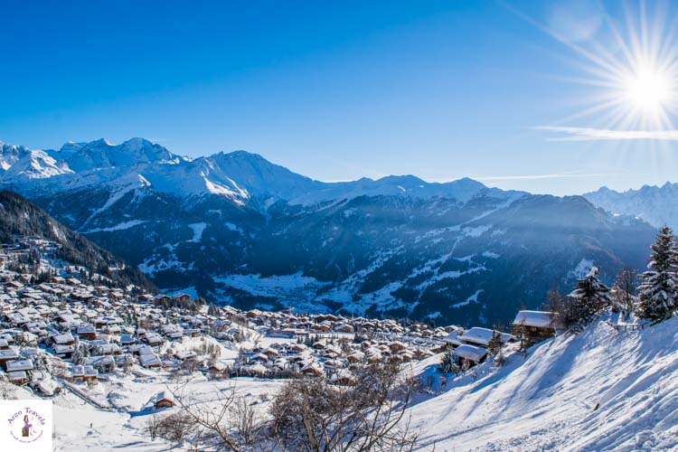 Switzerland in winter, Verbier snowshoe hiking