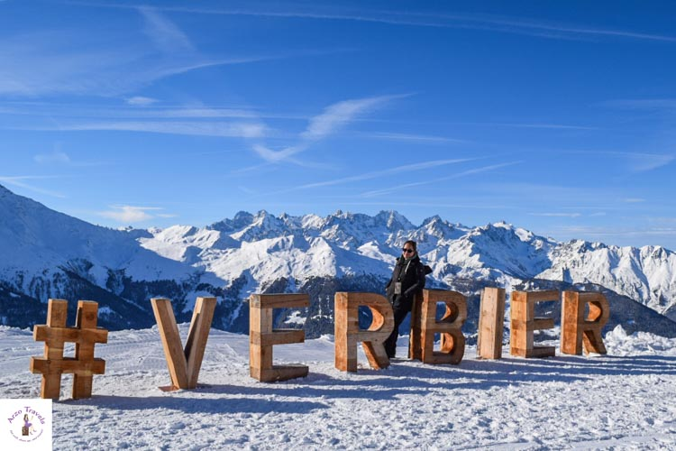 Verbier in Switzerland in the winter