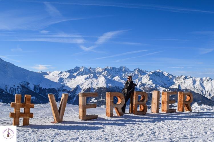 Verbier in Switzerland in the winter