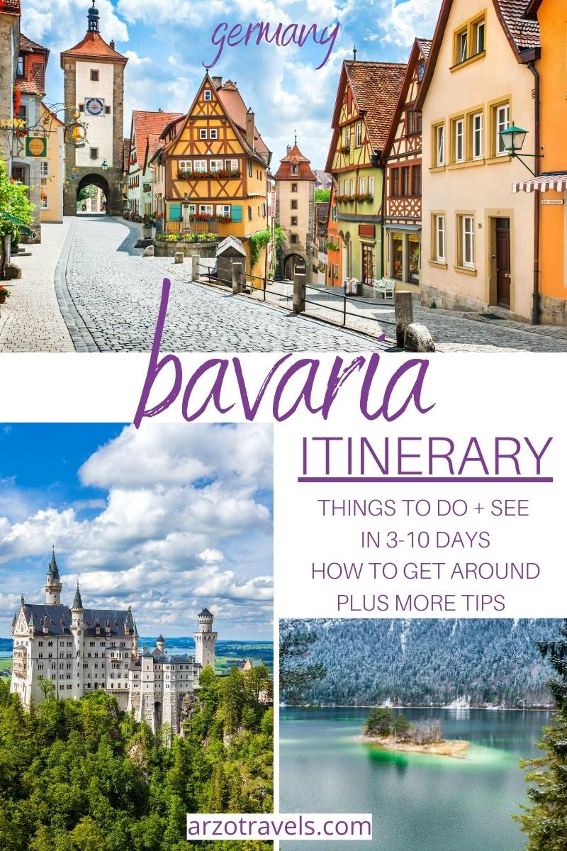 3-10 days in Bavaria itinerary, Germany Arzo Travels