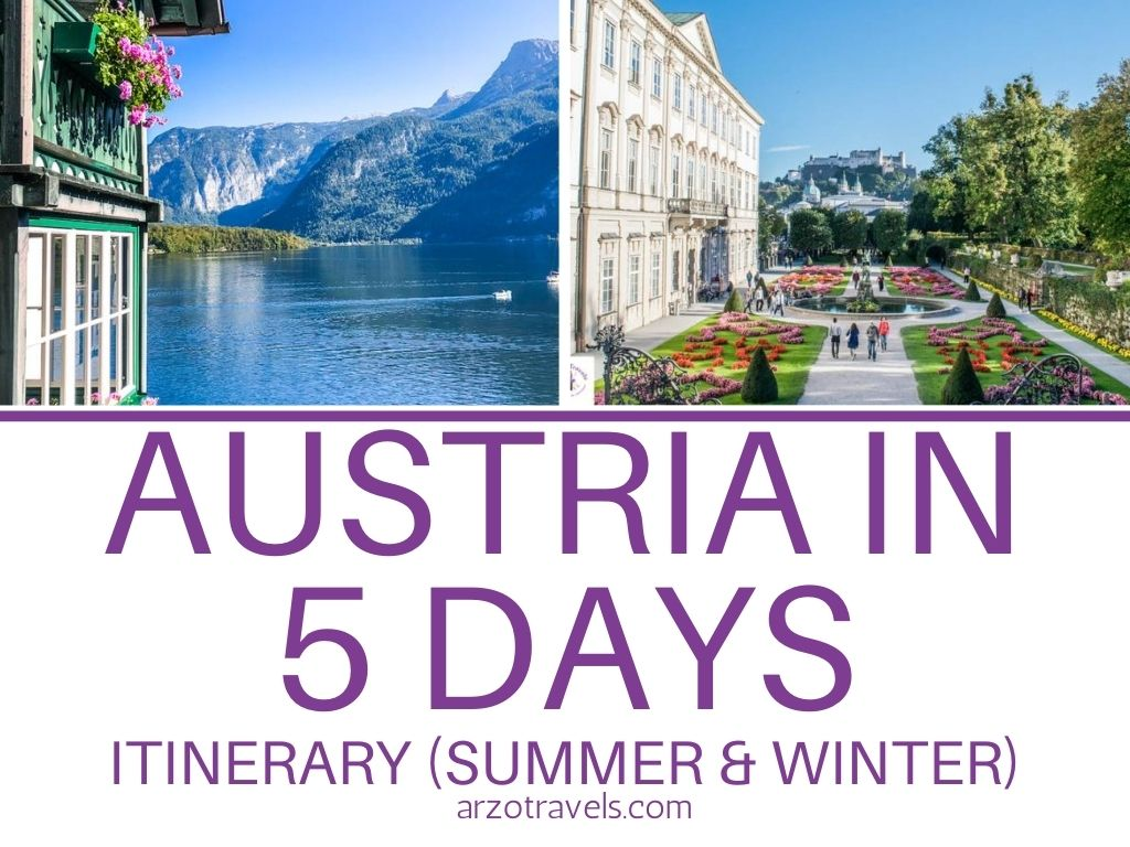 Austria in 5 days, itinerary for summer or winter