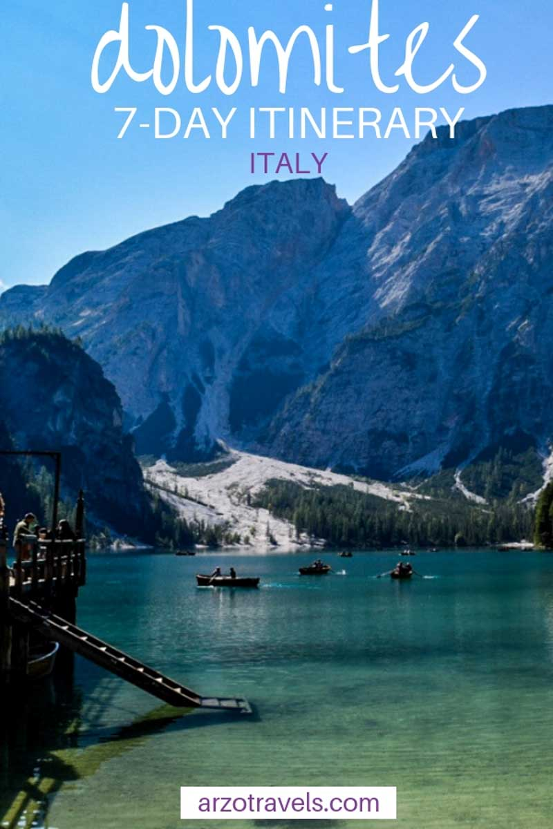 Dolomites, Italy travel tips. The best one week itinerary for the Dolomites.