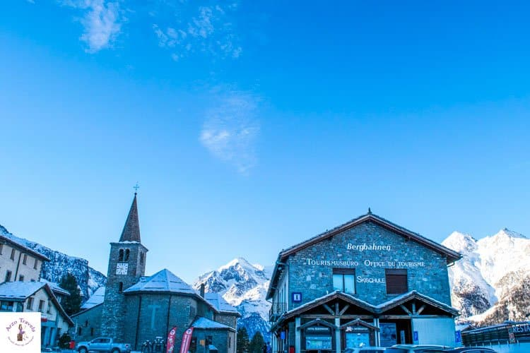 Grächen Village Tour in the winter